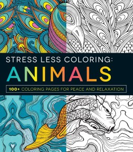 stress less coloring animals