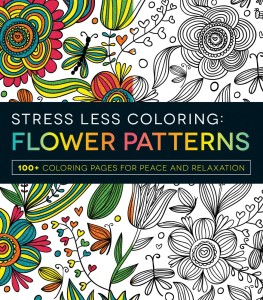 stress less coloring flowers