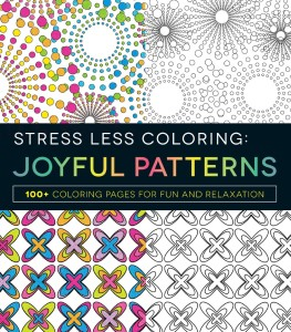 stress less coloring joyful