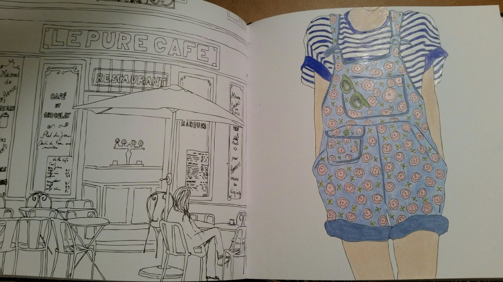 i have a lot of adult coloring books and this one is up there on my favorites list because i dont really have any other books that focus on fashion and - Paris Coloring Book