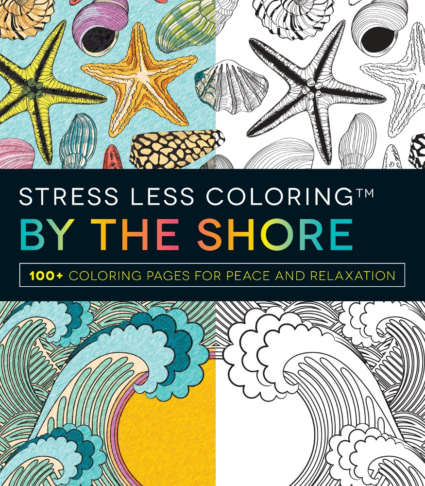 Stress less coloring by the shore - Stress Less Coloring By The Shore